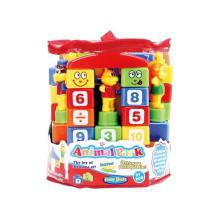 Brinquedo plástico do brinquedo do bloco de edifício animal (H8219048)