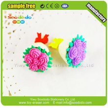 Soododo New design 3D flower rubber erasers