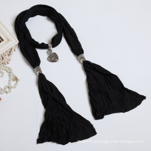 The New Woman Pure Cotton Polyester Fibra Color Scarf Shawl