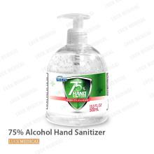 75% álcool gel desinfetante suave para as mãos