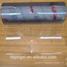 Rouleau de feuille transparente en PVC souple