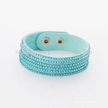 Мода Регулируемые кнопки Mix-цвет Кристалл Wrap Rhinestone Браслеты BCR-022-1