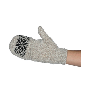 White Black Snowflake Warm Knitted Gloves