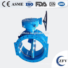 Double eccentric flange type pneumatic butterfly valve