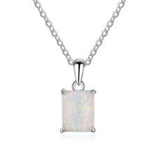Opal Stone High End Popular 925 Sterling Silver Jewelry Opal Pendant for Women