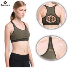 Crisscriss costas mulheres por atacado sem costura ginásio sports bra