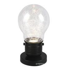 New Modern Bulb Black & Transparent Glass Table Lamp (MT4119BM-B)