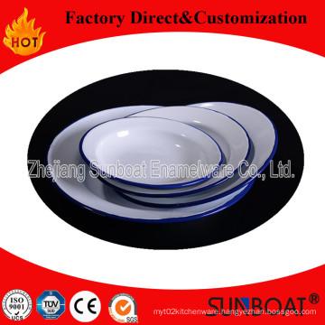 Sunboat Enamel Dinner Plate/Kitchenware Food Plate/Logo Customized/Tableware