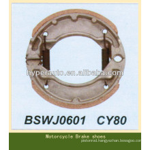CY80 brake shoes for motorcycle