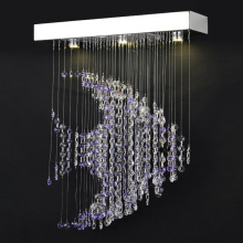decorative european lighting modern purple chandelier