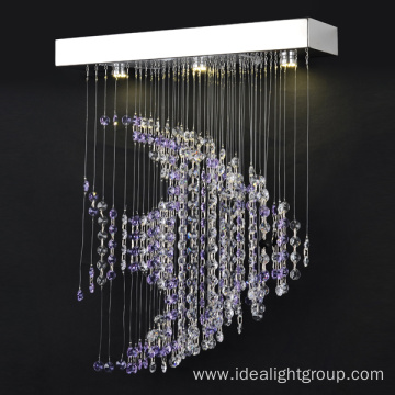 decorative european lighting modern purple chandelier