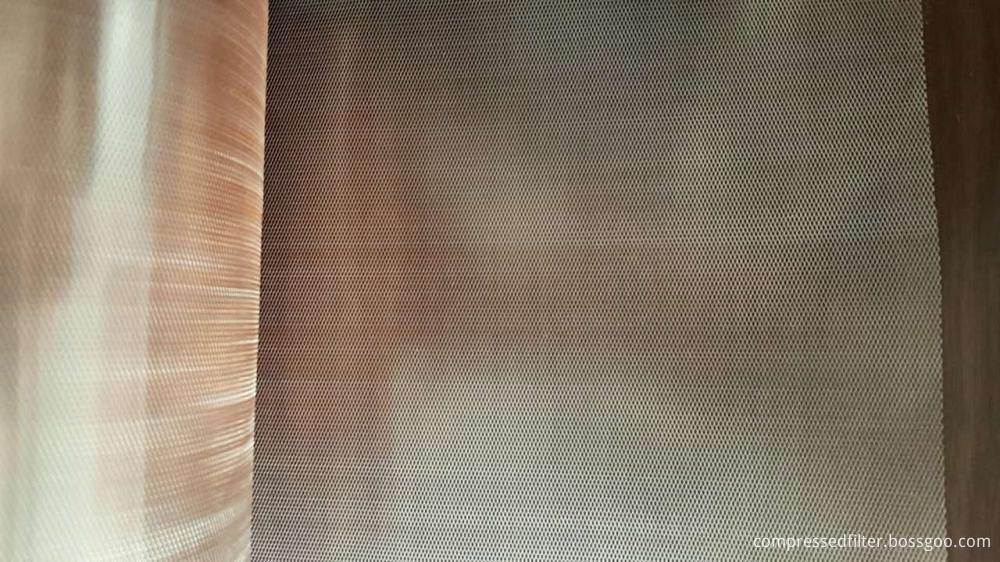 Expanded copper foil mesh
