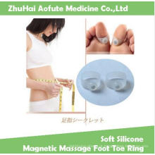 Soft Silicone magnético pé de massagem toe anel manter Slimmming anel