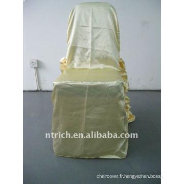 Luxe !!! champagne couleur couverture de chaise de satin, style de mariage, si fascinant