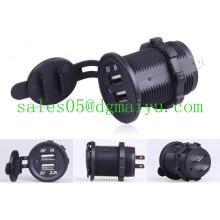 Motorrad Auto 12V / 24V Dual USB LED Ladegerät Adapter Buchse