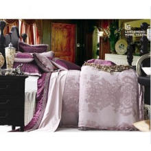 Luxus-Polyester und Baumwolle gemischte Jacquard-Bettwäsche Ls1635
