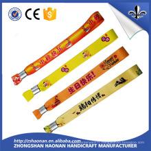 Bracelet coloré tissé à chaud avec fermeture à glissière en plastique