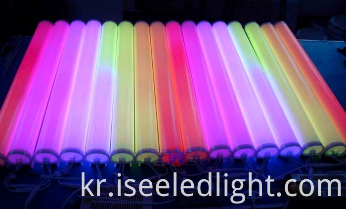 led digital tube for building