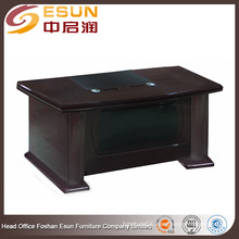 2016 New arrival office furniture latest design PU decoration in front office table