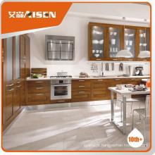 Móveis de armário de cozinha de madeira maciça de moldes profissionais