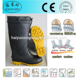 Insulative Men's PVC Safety Gumboots With Steel Toe Cap and Steel Plate