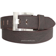 Man's classical dark brown PU leather belt