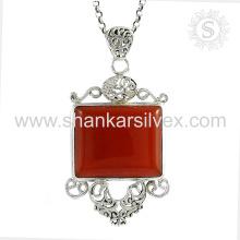 Lavish design carnelian gemstone silver jewelry handmade pendant 925 sterling silver jewelry wholesaler supplier