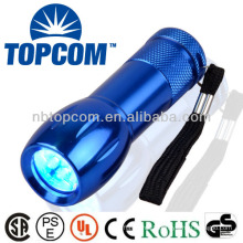Dry battery powered uv torch 9 led flashlight
