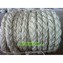 China for China Polyester Rope, Multi Color Polyester Rope, 3 Strand Polyester Rope, Polyester Braided Rope Supplier 104mm 150M polyester rope 8 strands supply to Cuba Manufacturers