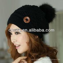 Последние дизайн мода PK17ST324 Вязание для женщин шапочка