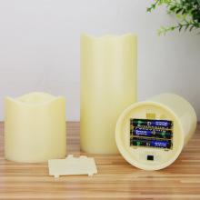2-tombol remote control dekorasi LED candle