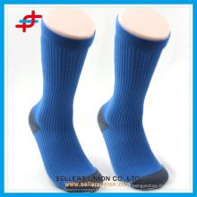 Chaussettes de sport bleu épais compression chaussure homme logo personnalisé