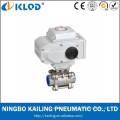 KLST-15 3pcs rosca la válvula de bola eléctrica del acero inoxidable