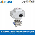 KLST-15 3pcs Thread stainless steel electrical ball valve