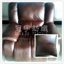 Materia textil casera imitación cuero tela para el sofá