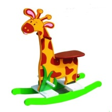 Cute Wooden Baby Chair Giaffe Rocker for Kids and Children