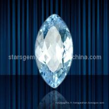 Forme de marquise de haute qualité Light Zircon cubique d'Aqua