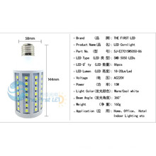Heißer Verkauf 15w 5730 smd führte Maislicht E27 / E14 AC220V oder AC90-260V warme kühle weiße geführte Lampe