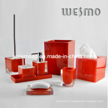 Transparent Polyresin Bathroom Set (WBP0202A)