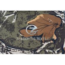 400d tela plana de poli Oxford con camuflaje del bosque (ZCBP266)