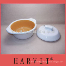 Stock ceramic soup bowl with cover