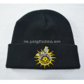 Caps Black Knitted Promosi dengan Logo