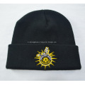 Promotional Black Knitted Caps with Logo