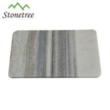 Mármore de pedra natural cortar placa de queijo de corte