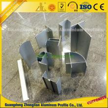Perfil de alumínio anodizado de limpeza para sala limpa Alumínio