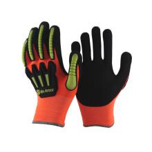 Produtos de segurança NMSAFETY mão luva protetora anti-impacto TPR
