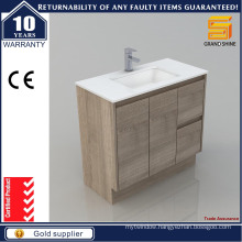2016 New Popular MDF Melamine Bathroom Vanity for Hotel Design