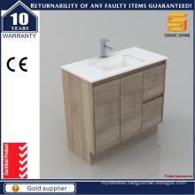 2016 New Popular MDF Melamine Bathroom Vanity for Hotel Design