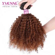 Высокое Качество Афро Кудрявый Бразильский Ombre Волос Weave