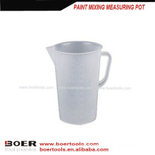 plastic paint mixing measuring pot